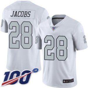 Raiders Josh Jacobs 100th Season Jersey 3